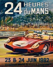 Le Mans 24 Hours 1962 Car Autombile Speed Race Sport Vintage Poster Repo FREE SH