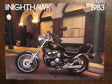 1983 HONDA NIGHTHAWK 550 CB550SC NOS OEM DEALER'S SALES BROCHURE CB550 CB SC 83