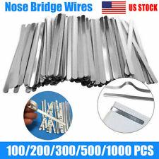Aluminum Metal Nose Bridge Strips Adhesive Flat Bendable Making Twist Ties US