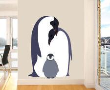 Penguin Family Mural Full Colour Wall Sticker Decal Transfer