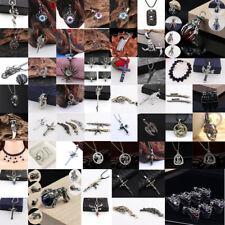 Punk Men Stainless Steel Animal Cross Skull Pistol Eagle Dragon Pendant Necklace
