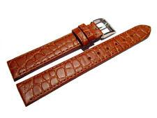 Uhrenarmband aus echtem Leder Safari braun 12mm 14mm 16mm 18mm 20mm 22mm