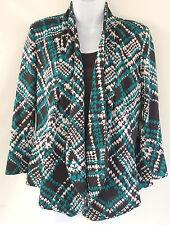 Notations $46 Teal Asymmetrical Hem Blazer Jacket Women's Small