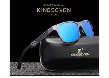 Kingseven Gafas Aluminio Polarizadas para Hombre - Caja,Funda y gamuza