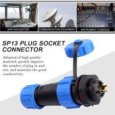 IP68 Waterproof Electrical Aviation Plug Socket Connector SP13 2/3/4/5/6/7/9 Pin