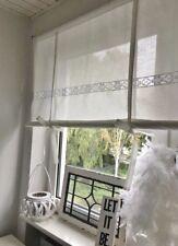 Raffrollo Gardine SPITZE weiß Vintage Shabby Chic 60/80/100/120/140/150x120 cm