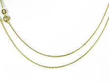 9ct Oro Amarillo Talla Diamante Cadena Belcher 1mm Ancho 16 18 50.8cm MARCA UK