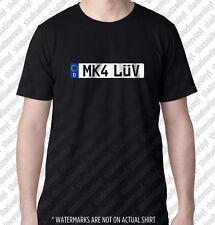 MK4 LUV European Euro License Plate T-shirt German Golf MKIV 1J VW GTI VR6 R32