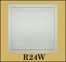 Decorative Texture Ceiling Tiles Glue UP - R24W On SALE