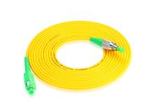 SC/APC-FC/APC fiber patch cord jumper cable,3.0mm,SM,3/5/10/15 Meters