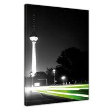Leinwandbild - Blick auf den Berliner Fernsehturm schwarz weiß ( Berlin - Mitte