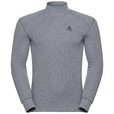 Herren ODLO ACTIVE WARM Funktionsunterwäsche Langarm-Shirt, grau meliert
