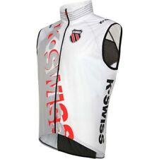 NEW Mens M XL K SWISS Wind Performance S/L Vest Triathlon Cycling White Black