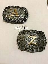 Buchstaben Initial Belt Buckle Gürtelschnalle Koppel  Initialen Buchstabe A-Z