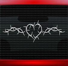 Heart #1 Barbwire Cute Pretty Car Decal Truck Window Sticker Cowgirl 20 COLORS!