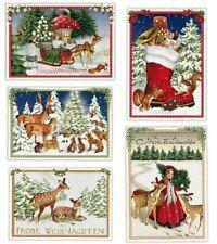 *EDITION TAUSENDSCHÖN*Weihnachten*Postkarte*Kind*Wald&Tiere*Nostalgie*A6*