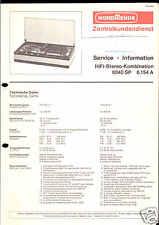 Nordmende Original Service Manual für HiFi 8040 SP