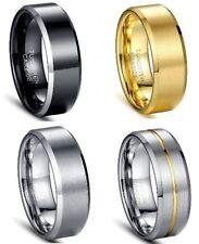 """Tungsten Carbide Ajuste Cómodo 8mm Anillo De Boda Tamaño RU / """"R 1.9cm US/CA """"9"""""""