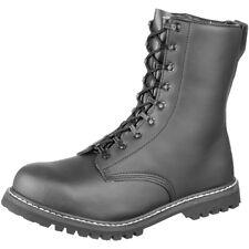 Combate Brandit Botas Seguridad Calzado Negro Piel Sintética Taza Acero Cuero