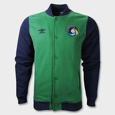 NEW Mens Sz XL 2XL UMBRO New York Cosmos Soccer Green Navy Blue Baseball Jacket