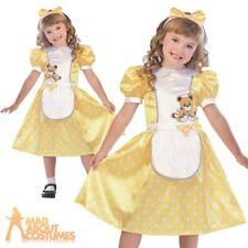 Child Goldilocks Costume Girls Book Week Day Fancy Dress Outfit Kids Age 3-10