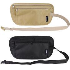 Travel Waist Belt Zipped Passport Wallet Pouch Bum Money Bag Festival Fanny Pack
