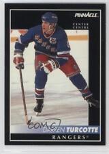 1992-93 Pinnacle Canadian 33 Darren Turcotte New York Rangers Winnipeg Jets Card