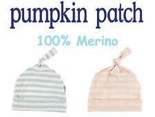 100% PURE MERINO WOOL Pumpkin Patch Baby Hat BOY GIRL Pink Blue Size 000 00 0 1