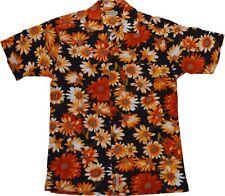 Kurzarm Hawaii Hemd KAMRO 14249 Orange Blume S - XXL