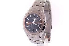 Men's Citizen BM6560-54H Eco-Drive Titanium Black Dial Date Watch
