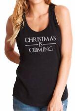 Ladies Tank Top Christmas is Coming T-Shirt Game of Thrones Tee Shirt X-mas Gift