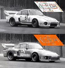 Calcas Porsche 935 Zolder 1977 51 52 1:32 1:43 1:24 1:18 decals