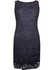 WALLIS  BLACK SLEEVELESS LACE SHIFT DRESS  - SIZES  8 10 12 14 16 18