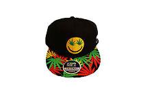 Weed snapback caps, mens & ladies cannabis marijuana flat peak baseball hats
