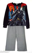 Lisensed Boys Batman The Dark Knight Pyjamas Set Fleece Size 4 -12  Brand New!!!