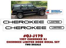 1987-1992 JEEP XJ CHEROKEE LIMITED CAPITAL LETTERS STRIPE DECAL STICKER PACKAGE