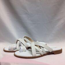 Via Spiga Reese2 Toe Ring Flip Flop Sandal 5.5 M White Leather New w/Box