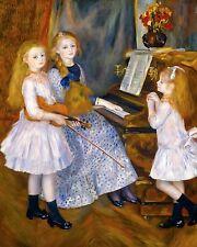Renoir 1888, Daughters of Catulle Mendès, Fade Resistant HD Art Print or Canvas
