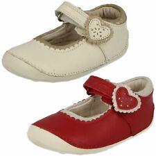 Baby Toddler Girls Clarks Cruisers Hook & Loop Fastening Casual Shoes Ida Heart
