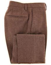 $475 Incotex Brown Melange Wool Blend Pants - Slim - (DJ)