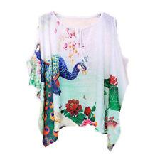 morbida maxi maglia  donna bianco colorata scollata  misto cotone  4677
