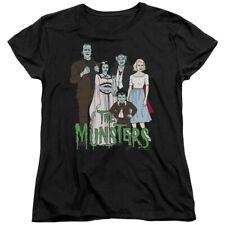 The Munsters Family Characters Womens Black T-Shirt - (Medium)