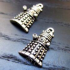 Doctor Who Daleks Robots Wholesale Silver Charm Pendants C8180 - 5, 10 Or 20PCs