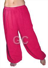 Hot Pink Cotton Harem Yoga Pants Belly Dance Trousers Aladdin Students Pantalons