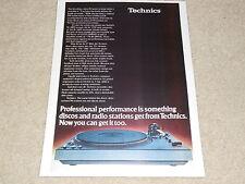 Technics SL-1600 Turntable Ad, Sl-1800, SL-1700, Specs, Article, 1 page, 1976