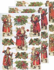 Chromo EF Découpis Père Noël 7361 Embossed illustartions Santa