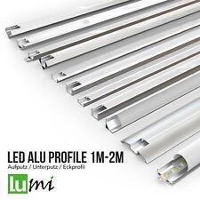 LED Profil Aluprofil Alu Schiene Leiste Profile für LED-Streifen Eloxiert 1m 2m