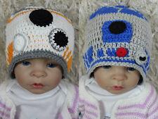 Handmade R2D2 Hat BB8 Hat Knit Crochet Hat Baby Hat Child Hat Star Wars Hat New