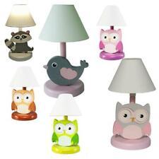 Vama-Design  Kinder Tischlampe Eule, Waschbär & Co. Nachttischlampe Holz A++