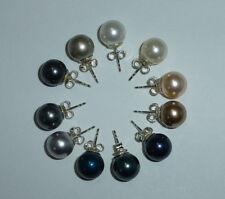 Perlen-Ohrstecker Ohrringe Perle 10mm Silber 925 Brautschmuck -Farbwahl-